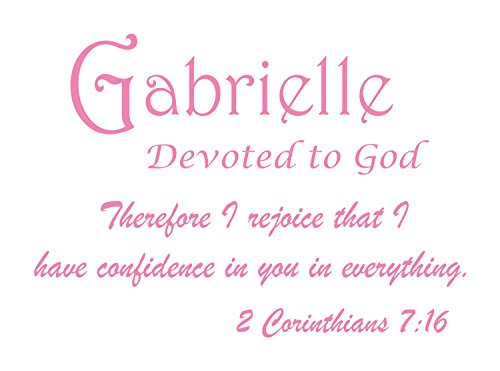 Baby Names Wall Decals for Gabrielle. Displays The Meaning of Names - Learn The Gabrielle Name Meanings of Baby Girl Names or Boys. Get This What Does My Name Mean Decal in - Soft Pink (Best Celtic Baby Names)