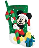 "Janlynn Mickey Mouse Stocking Felt Applique Kit 18"" Long 1133-65"