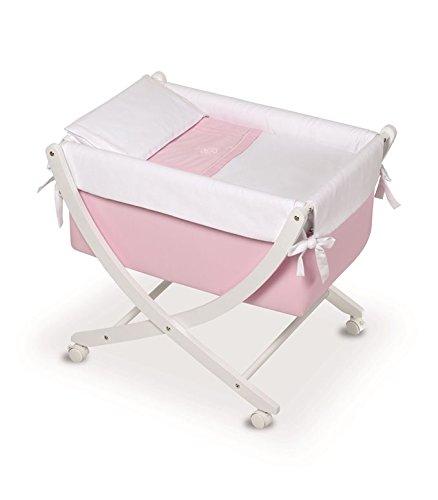 Bimbi Elite–Baby, 68x 83x 76cm, weiß und rosa