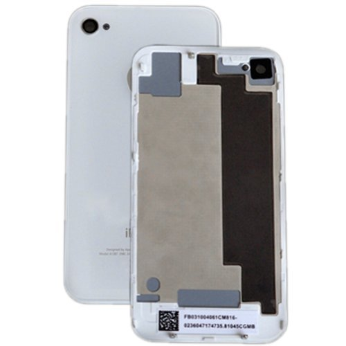 New Replacement Glass Back Battery Cover & Frame for Verizon iPhone 4 CDMA, White