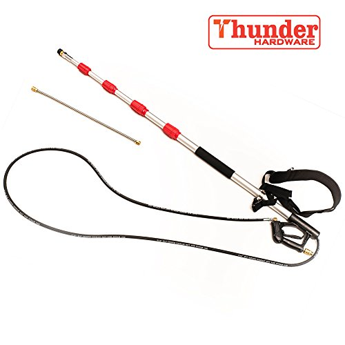 Thunder Hardware 4000 psi Commercial Grade Telescoping Spray Wand for Pressure Washers (Pressure Washer Telescoping Wand)