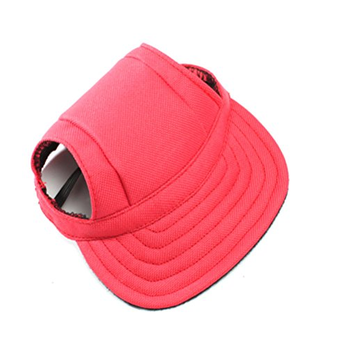 WINOMO Pet Dog Sports Hat Pet Dog Oxford Fabric Hat Sports Baseball Cap with Ear Holes for Small Dogs - Size M (Red)