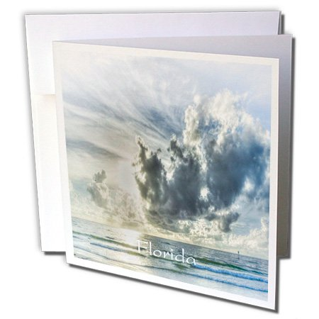 3Drose Florida   Image Of Storm Over Beach At Clearwater   12 Greeting Cards With Envelopes  Gc 255522 2