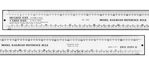 12 Inch Stainless Steel Model Railroader's Ruler (For HO, O, N, S, Scale)