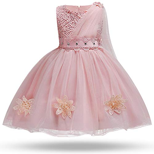 Baby Girl Embroidery Silk Princess Dress for Wedding Party Kids Dresses for Toddler Girl Children Fashion Christmas ()