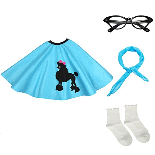 Which are the best poodle skirt costume for girls blue available in 2019?