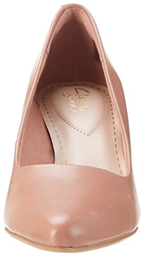 Clarks 261230234, Zapatos de Tacón Mujer Rosa (Dusty Pink Lea)