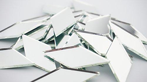 Mosaic Diamond Tile (2 Inch Diamond Shape Mirror Mosaic Tile. 25 pcs)