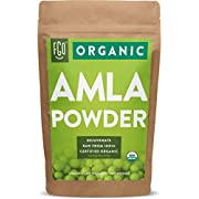 Organic Amla Powder (Amalaki) | 16oz Resealable Kraft Bag (1lb) | 100% Raw From India | by FGO