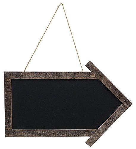 """CWI Gifts Arrow Blackboard with Jute Hanger, 11.5"""" x 17"""""""