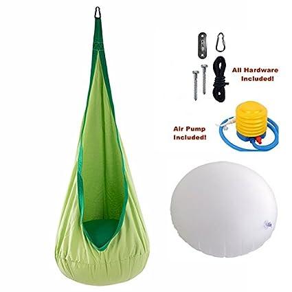 Child Kids Pod Swing Chair Nook Tent Bedroom Garden Hanging Seat Hammock Cushion