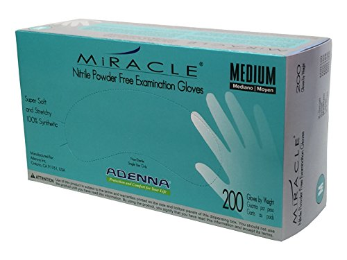 Adenna Miracle Nitrile Powder Free Exam Gloves (Medium