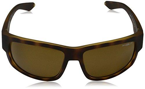 Arnette Men's AN4221 Grifter Rectangular Sunglasses, Fuzzy Tortoise /Polarized Brown , 62 mm