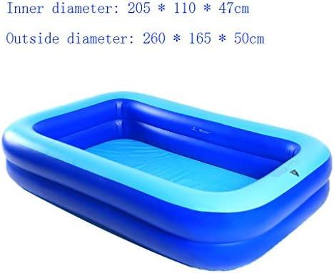 002 LQQGXL,Baño Piscina Hinchable Piscina Cuadrada para Adultos ...