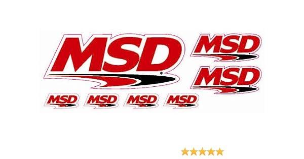 "MSD Ignition Decal Sheet Sticker 2/"" X 4/"""