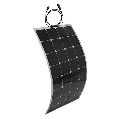 ALEKO 100W 100-Watt Semi Flexible Solar Monocrystalline Panel 12V Solar Module Power System by ALEKO (Image #2)
