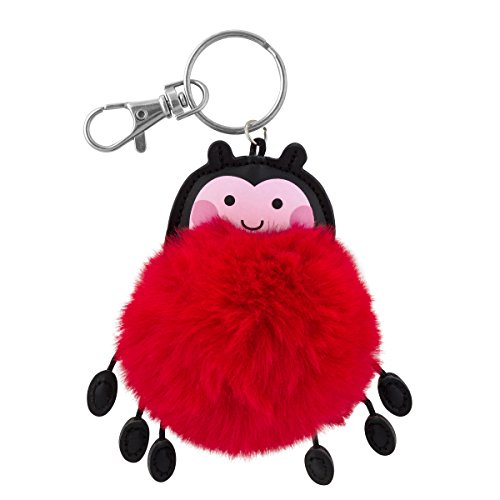 Stephen Joseph Pom Pom Critter Key Chains, Ladybug