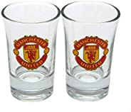 Manchester United Word Mark Shot Glasses