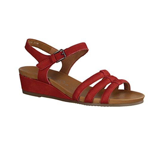 Ara Sirmione 34115-06 - Zapatos De Mujer Sandalias De Tacón Alto / Honda, Rojo