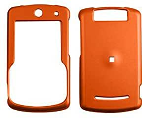 Motorola Q9hHoney Burn Orange, Leather Finish Hard Case/Cover/Faceplate/Snap On/Housing/Protector