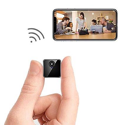 Mini cámara WiFi - Bysameyee Cámara espía inalámbrica Oculta con detección de Movimiento Almacenamiento en la
