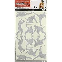 Molding Mates Action Ninjas 12 Molding Mates Home Decor Peel and Stick Vinyl Wall Decal Stickers