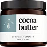 Cocoa Butter, 100% All Natural by Raw Apothecary- Unrefined All-Over Moisturizer, Beauty Remedy and DIY must have (1 Pound)