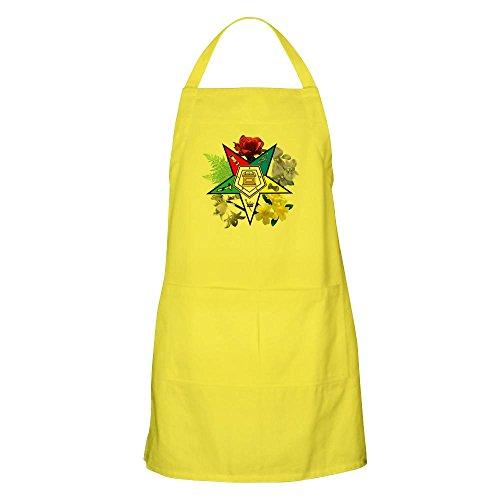 CafePress Eastern Star Floral Emblems BBQ Kitchen Apron with Pockets, Grilling Apron, Baking Apron