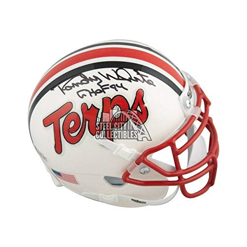 Randy White Chof 94 Autographed Signed Memorabilia Maryland Terrapins Mini Football Helmet Bas Coa - Certified Authentic