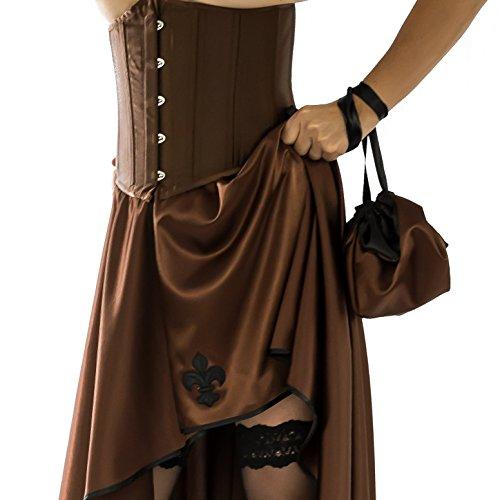 SiaLinda - Cartera de mano con asa de Satén para mujer cobre