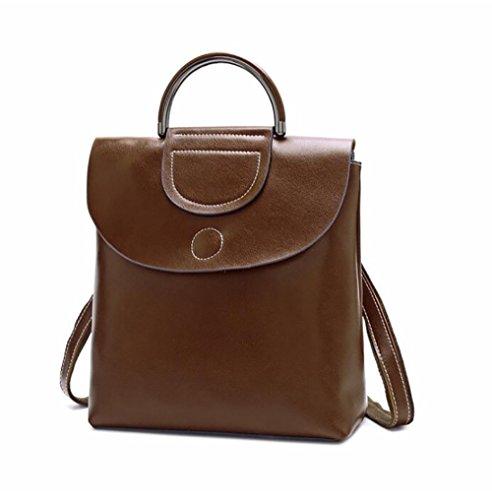 femmes multifonctionnel sac sac de décontracté la 11 26 29cm PU des à à en main souple dos cuir mode Sac wgPAIqw