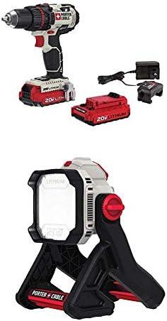 PORTER-CABLE 20V MAX Cordless Drill Driver Kit, 1 2-Inch PCC606LA