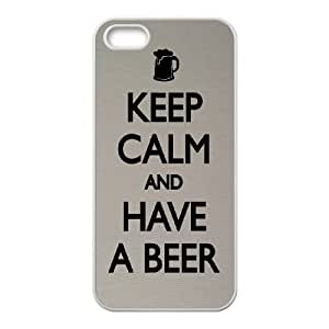 Keep Calm Drink Beer iPhone 4 4s Cell Phone Case White MSY204015AEW