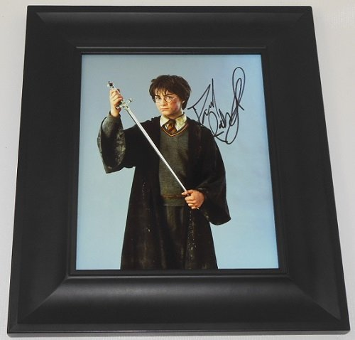 Harry Potter and the Chamber of Secrets Daniel Radcliffe Signed Autographed 8x10 Glossy Photo Gallery Framed Loa