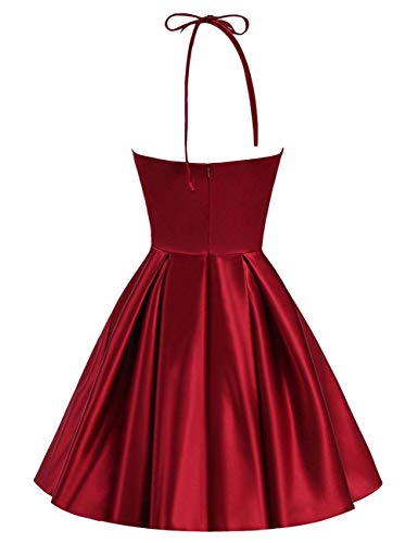 Prom Dress Backless Dress Homecoming Bess Women's Sleeveless Halter Short Lilac Bridal FIq1T