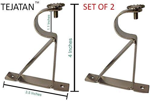 7 16 curtain rod brackets - 3
