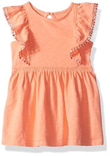 Ruffle Front Cotton Dress - 5
