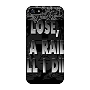 Durable Defender Case For Iphone 5/5s Tpu Cover(oakland Raiders)