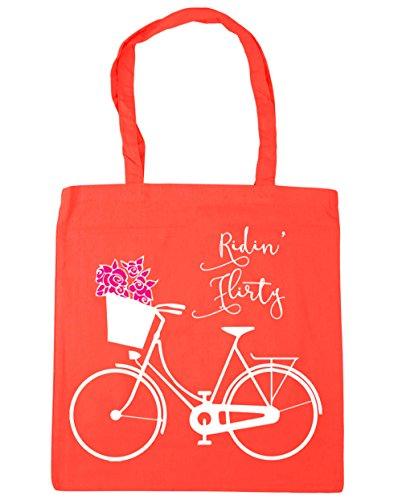 HippoWarehouse Ridin' bolsa al hombro, para la compra, bolsa de playa, etc. 42cm x 38cm, 10litros Coral