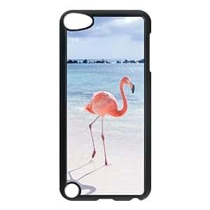 LSQDIY(R) Pink Flamingos iPod Touch 5 Personalized Case, Customised iPod Touch 5 Case Pink Flamingos