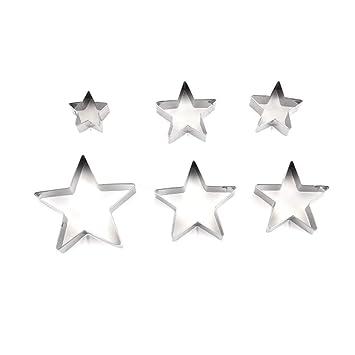 ounona Mini moldes Acero Inoxidable Estrella Cortadores para ...
