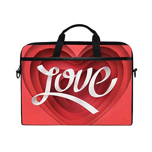 (Valentine's Day Concept 14 15inch Laptop Case Laptop Shoulder Bag Notebook Sleeve Handbag Computer Tablet Briefcase Carrying Case Cover with Shoulder Strap Handle for Men Women)