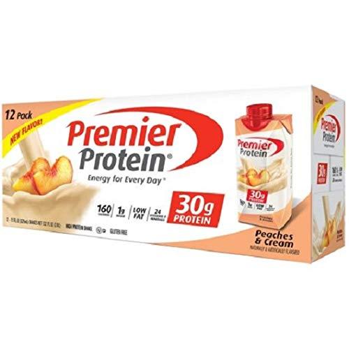 Premier Protein 30g Protein Shakes, Peaches & Cream (11 fl. oz, 12 Pack) IIIiii
