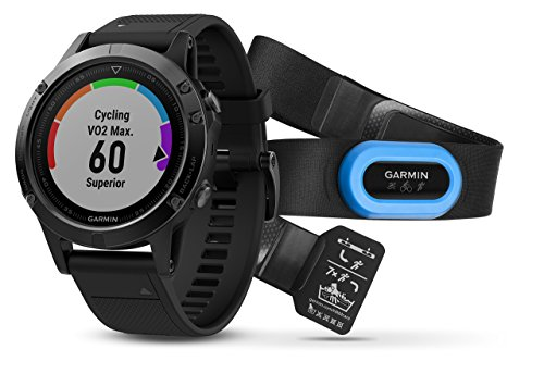 Garmin Fenix 5 Sapphire Performer Bundle - Black with Black Band (Renewed)