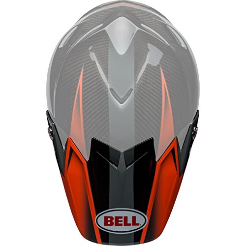 Hounds Orange (Bell Powersports Moto-9 Flex Helmet - Replacement Visor (Gloss/Matte Orange/Charcoal Hound))