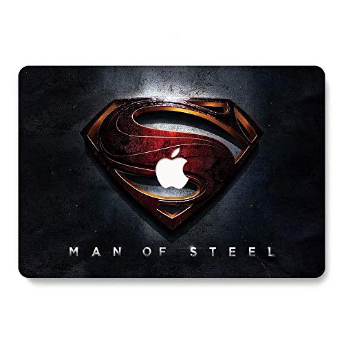(MacBook Pro 13 Case 2018 2017 2016 Release A1706/A1708/A1989, RQTX Plastic Hard Case Laptop Cover for MacBook Pro 13 Inch with/Without Touch Bar and Touch ID - Superman LRS339)