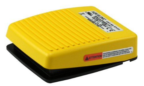 Linemaster 971-SY Aquiline Foot Switch, Electrical, Plastic, Single Pedal, Momentary, Single Stage, No Guard, Yellow