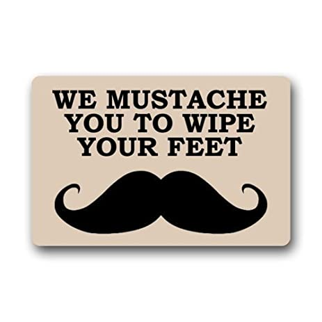 Amazon Com We Mustache You To Wipe Your Feet Doormat Indoor Floor
