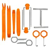 YbIntek Auto Trim Removal Tool Kit Car Door Clip Panel Trim Dash Audio Car Radio Pry Tool Sets Orange