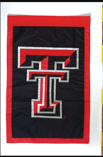 Raiders Applique - NCAA Texas Tech Red Raiders Double Sided 29 x 44-Inch Applique Flag